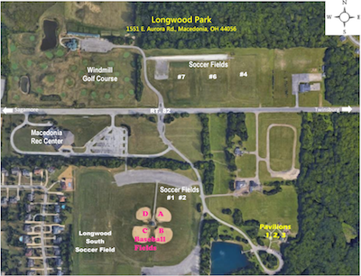 Map of Longwood Park